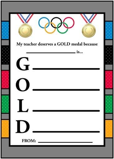 Gold Medal Teacher Appreciation