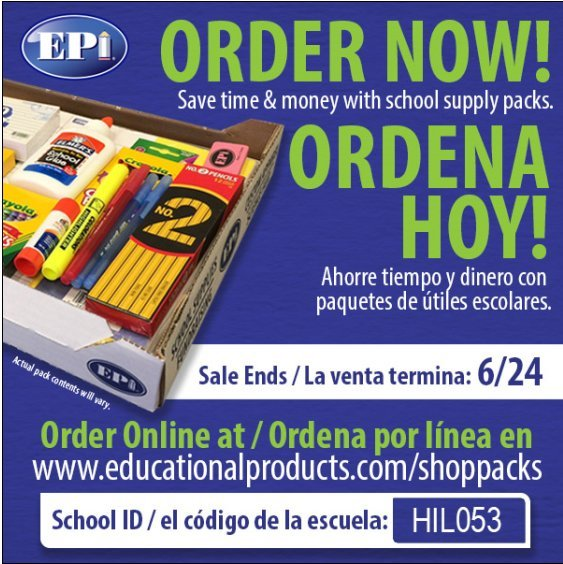 Order School Supplies Now! Ordena Hoy!