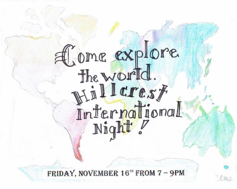 International Night November 16th from 7pm-9pm